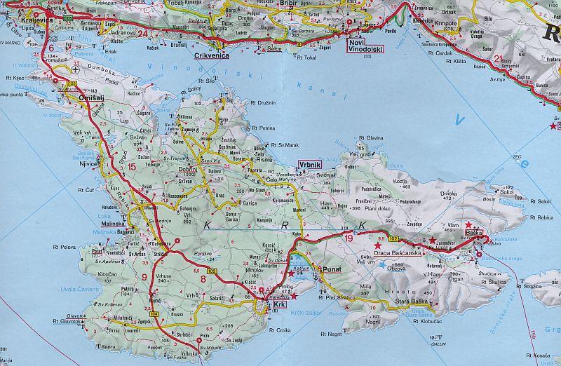Kroatien Vrbnik Karte Der Insel Krk Enbodenumer Flickr