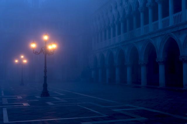 San Marco im Frühnebel