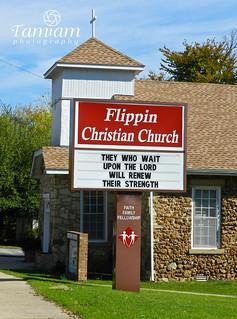 Flippin Christian Church Sign