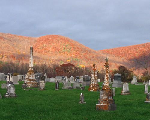 pawlet cemetery autumn foliage fall sunrise vermont vermontfoliage fallfoliage cloudsstormssunsetssunrises geotagged flickrgeotaggers innatelmwood