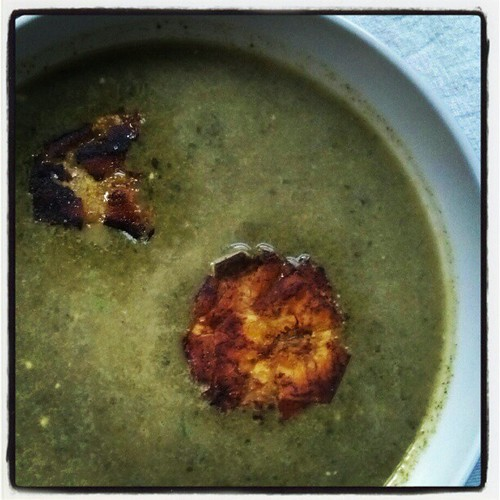 Creamy Chard Soup with Tostones: delish! #bryantterry #vegan #dinner  #excellent | by arahbahn