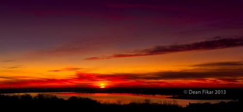 winter panorama lake crimson sunrise twilight pond colorful texas unitedstates calm serene fortworth earlymorninglight urbanlake
