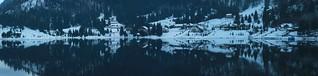 Panorama of Lake Colibita - 13469 x 3218 pixels