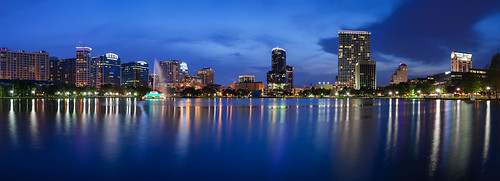 longexposure panorama lake reflection night orlando downtown cityscape unitedstates florida dusk streetlights unitedstatesofamerica bluehour lakeeola waterscape josegarrido lakeeolapark nikond60 nikkorafs1855mmf3556giied