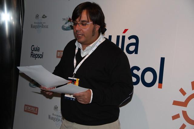 Alfonso López presentando el Tapas&Blogs