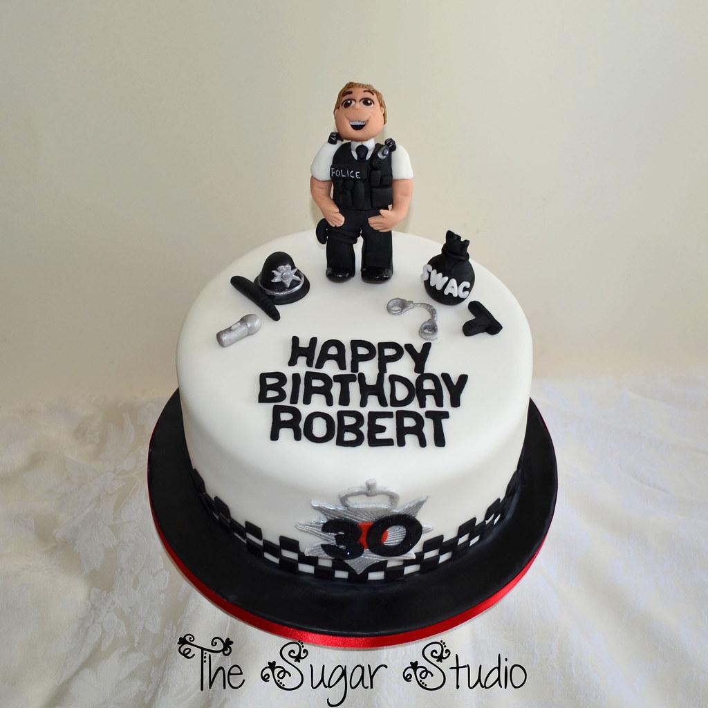Enjoyable Policier Birthday Cake Topper Decoration Funny Birthday Cards Online Hendilapandamsfinfo