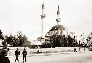 November 1942 - Australian Army 4th Anti Malarial Control Unit troops head towards the Grand Tekkiye Mosque in Damascus, Syria