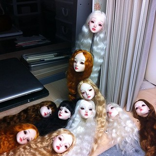 Painting a new batch of resin dolls for the Italy show next week. More photos coming. | by cisley