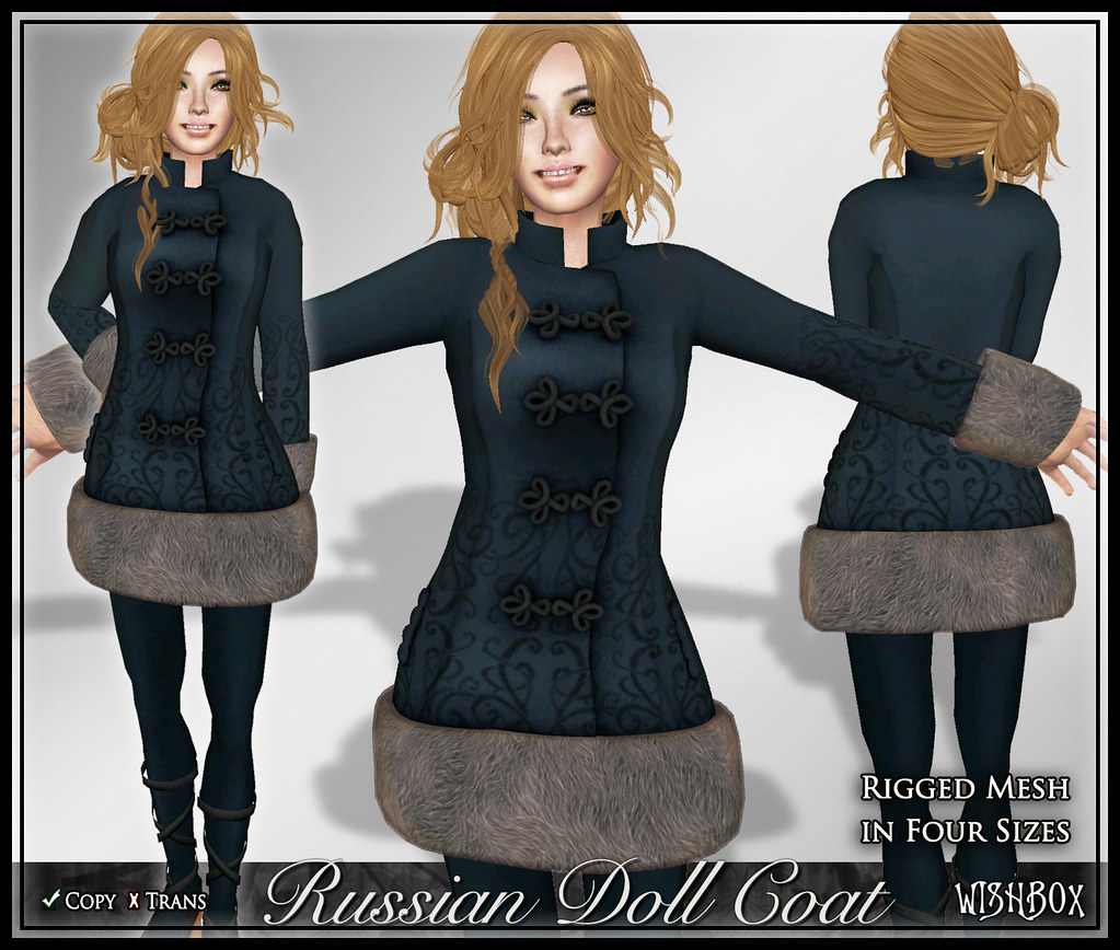 Russian Doll Coat (Blue Wolf)