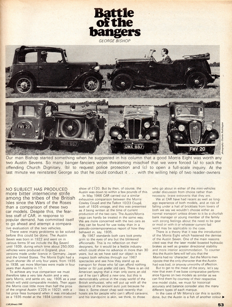 1937 Austin Seven And 1935 Morris Eight Twin Road Test Feature 1968