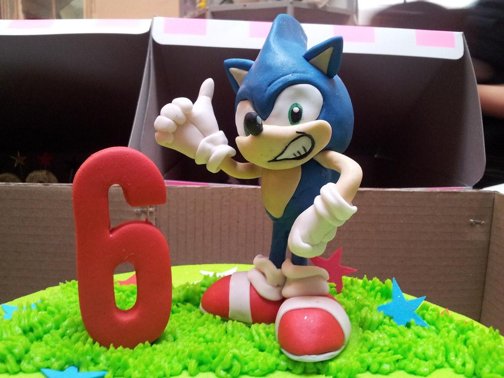 3d Sonic The Hedgehog Fondant Cake Topper Charly S Bakery Flickr
