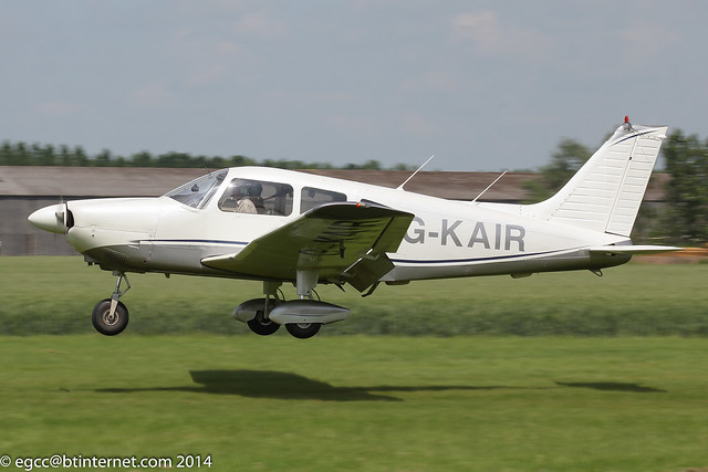 G-KAIR - 1978 build Piper PA-28-181 Archer II, arriving at Breighton during the 2014 Biplane and Open Cockpit fly-in