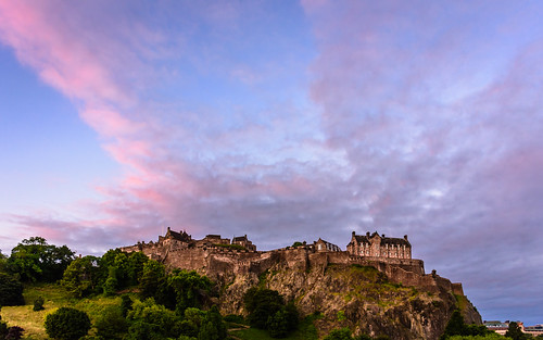 edinburgh europe scotland uk unitedkingdom gb sky clouds sunrise