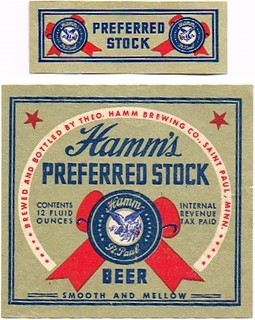 Hamms-Preferred-Stock-Beer--Labels-Theo-Hamm-Brewing-Company | by jbrookston