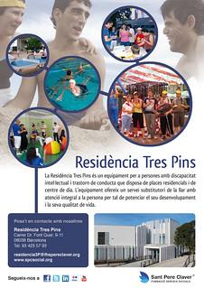 Cartell Residència Tres Pins | by Grup - Fundació Sant Pere Claver