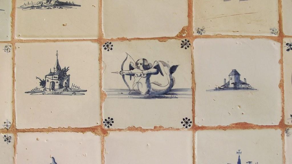 Deflt tiles at Standen house