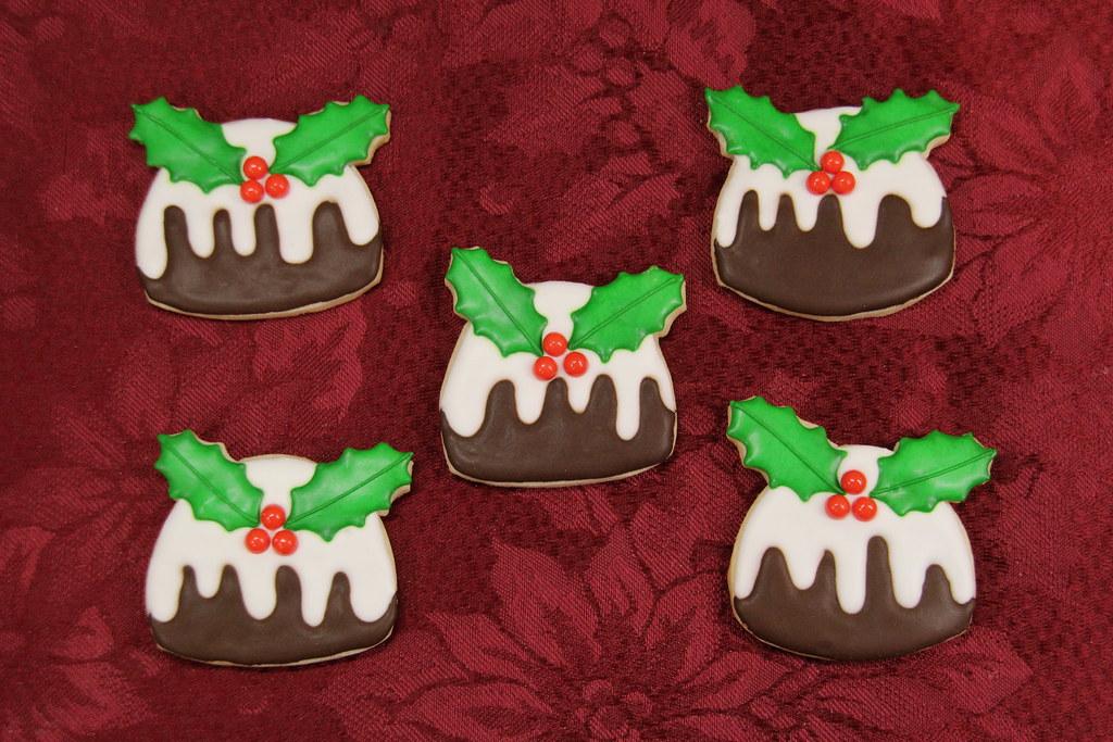 Christmas Pudding Cookies Nadia Bakes Flickr