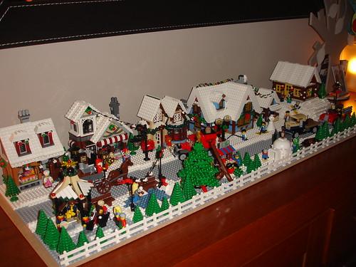 Final Lego Winter Village Layout