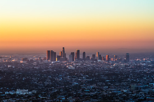 california sunrise losangeles downtown naturallight clear griffithpark griffithobservatory dtla goldenhour downtownlosangeles librarytower canon7d ©shabdrophoto