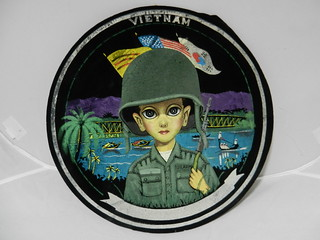Black Velvet Viet Nam souvenir for American Soldiers.  Sold and off to the UK.