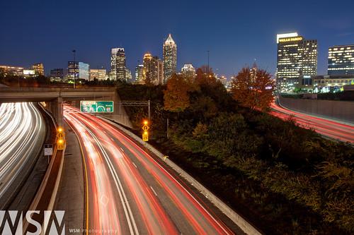 city longexposure atlanta sunset usa skyline night ga georgia cityscape nightshot metropolitan