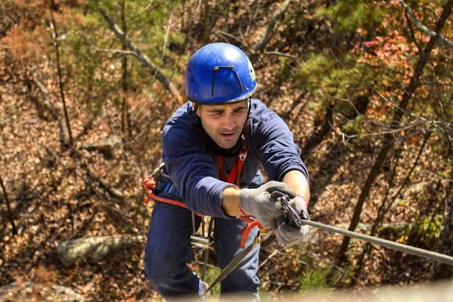 Eric Scott climbing 1, Lookout Mountain, Walker Co, GA