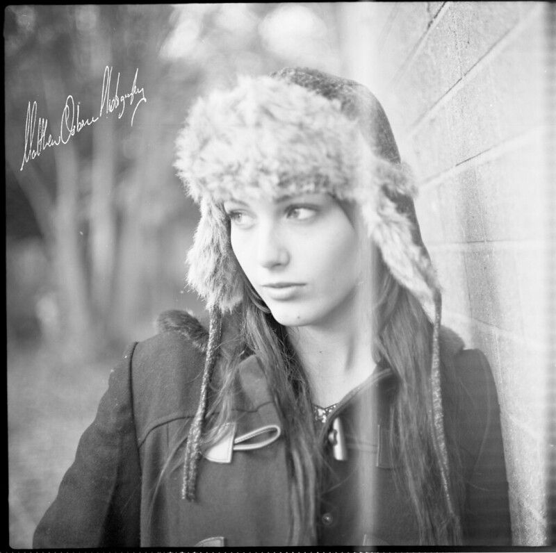 Katie with the 6x6 Pentacon Six TL + Biotar 80/2.8