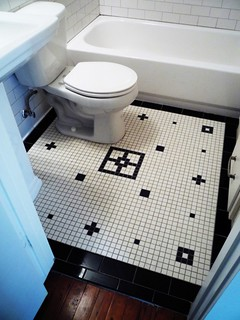 linwood apt 3 bathroom floor vintage mosaic tile inlay des ...