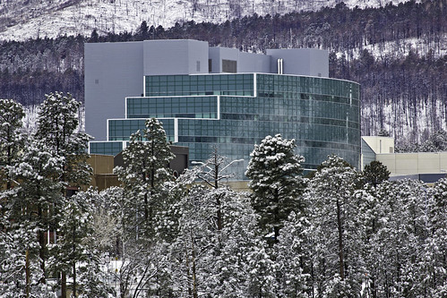 National Security Sciences Building after snow storm