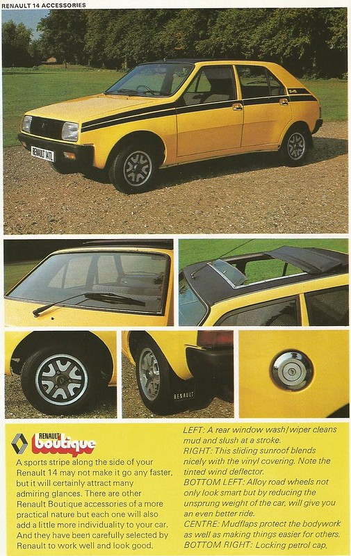 1978 RENAULT 14 ACCESSORIES VIA RENAULT BOUTIQUE