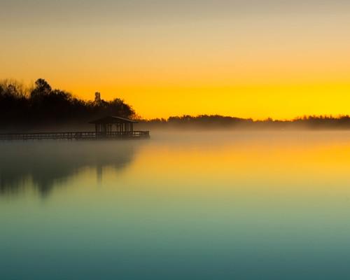 lake water fog sunrise outdoors photography day unitedstates steam arkansas fayetteville 2012 fogg