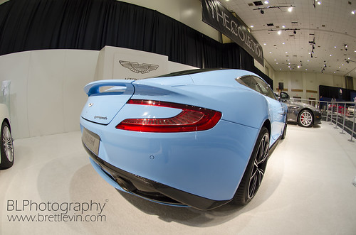 Nice Blue Aston Martin Vanquish At
