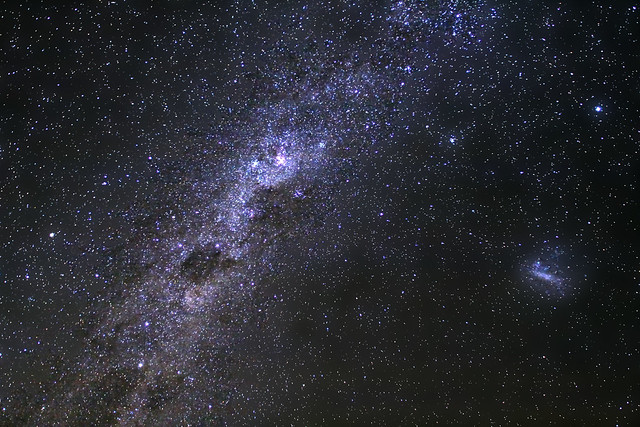 Voie lactée et grand nuage de Magellan