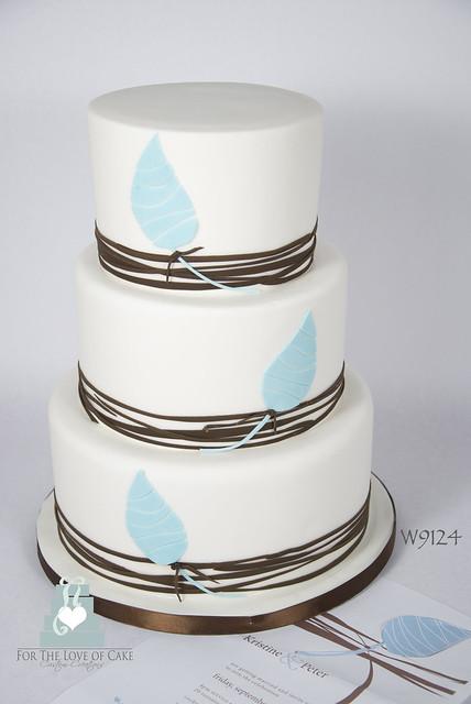 W9124 - simple graphic design wedding cake