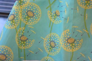 Winner:  fanciful flight - make a dandelion wish! by coggon | by Spoonflower Fabrics