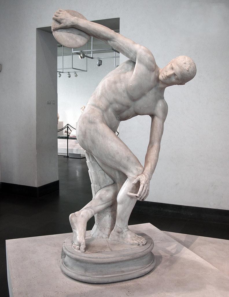 Myron Discobolus Old Installation Myron Of Eleutherae