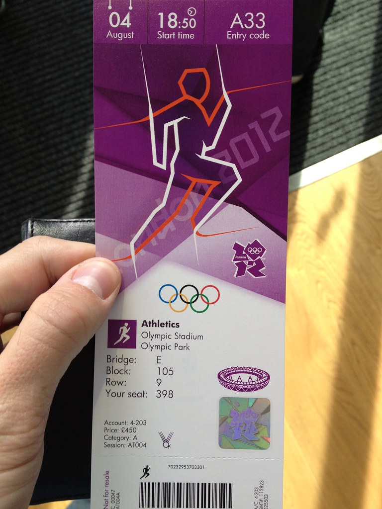 Olympic athletics tickets