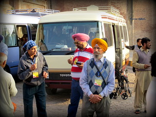 "Sikh Guests Enjoying ""Kulfi"" Near Lahore Fort Punjab 