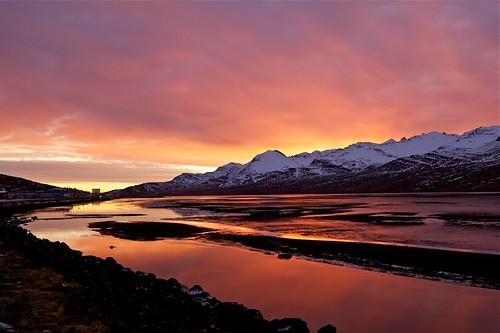 morning mountains reflection sunrise iceland ísland speglun fjöll morgunn sandfell sólarupprás fáskrúðsfjörður faskrudsfjordur jónínaguðrúnóskarsdóttir