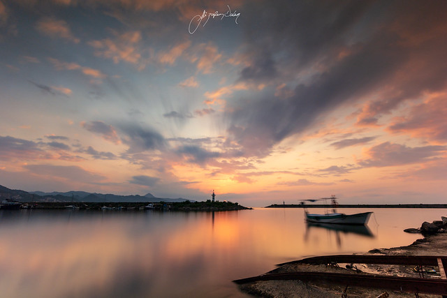 Sunset at Giresun Fishing Port