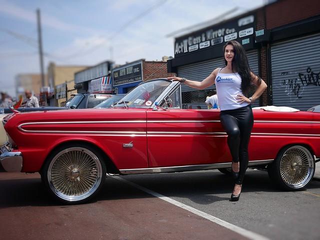 Brooklyn Proline Car Show 2018 Promo Model and car racer Katrina Dyork