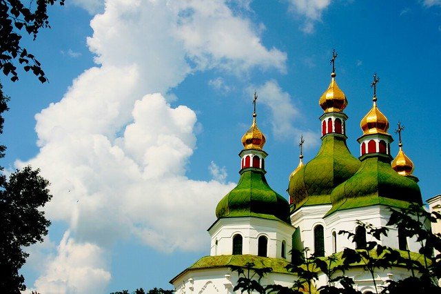 28.07.2018 Ukraine celebrates 1300 years of the Christening of Rus. St. Nicholas Cathedral. (1668-70) Ukrainian Baroque. Nizhyn. Ukraine.