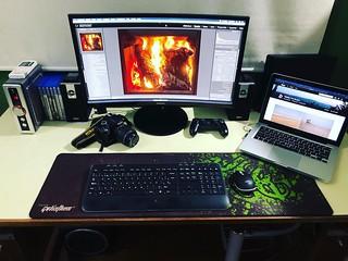 My desk July 2018