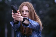 "Julianne Moore as ""Clarice Starling"" inthe movie ""HANIBAL"""