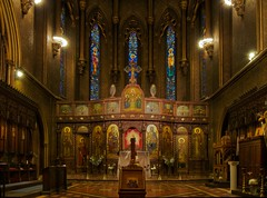 Saint Sava Serbian Orthodox Cathedral, Altar Stained Glass Windows, New York