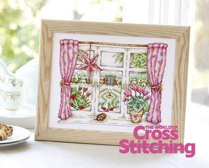 Winter window, cross stitch design