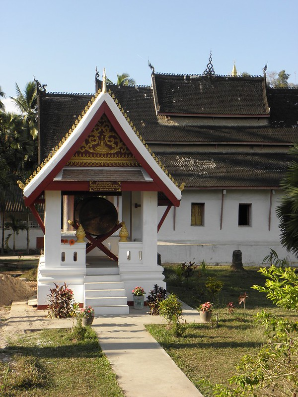 A gong in a temple in Luang Prabang, Laos