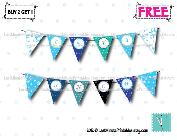 Snowflake Banner Clipart