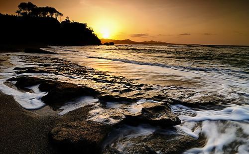 sunset sun beach palms tramonto mare dominicanrepublic caribbean atlanticocean palme spiaggia maimon puertoplata caraibi repdom oceanoatlantico tokinaatx1241224f4 polafol masieroalessandro