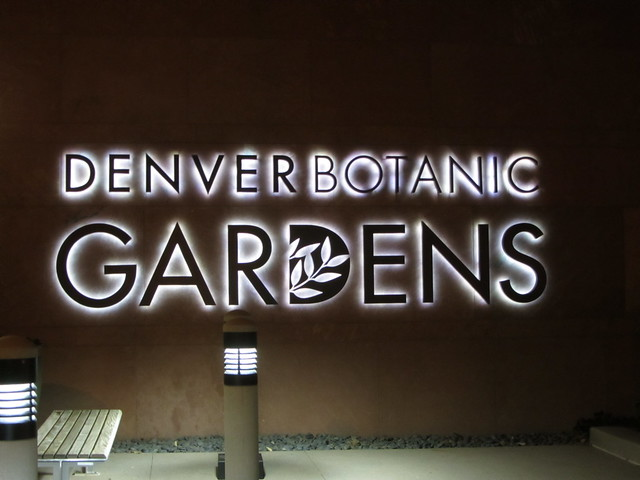 At the Denver Botanic Gardens